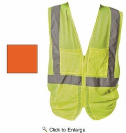 PIP 302-MVGZ4PLY/L  Hi-Visibility Mesh Safety Vest Class 2 - LIME YELLOW - Large