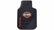 Plasticolor 1384R01  Harley-Davidson  Factory Style Trim-To-Fit Molded Front Floor Mats - Set of 2 per Package