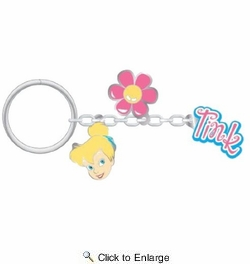 PlastiColor 4298R01  Tinker Bell Charm Key Chain