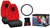 PlastiColor 6687A  Marvel Spiderman 4 Piece Seat Cover Combo Kit