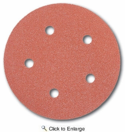 "Porter Cable 735500805  5"" Round 80 Grit (Hook & Loop, 5 Holes) Sanding Discs  5 Discs Per Package"