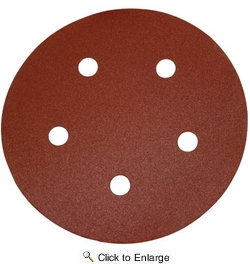 "Porter Cable 735501025  5"" Round 100 Grit (Hook & Loop, 5 Holes) Sanding Discs 25 Discs per Package"