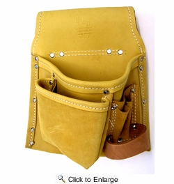 R & J Leathercraft 42311  5 Pocket Leather Pro Tool Pouch - Right Hand (423R)