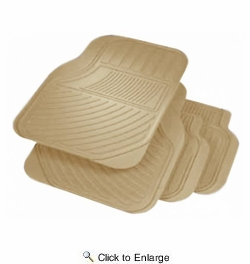 Rubber Queen 70753  Format 4 Piece Rubber Floor Mat Set - Beige