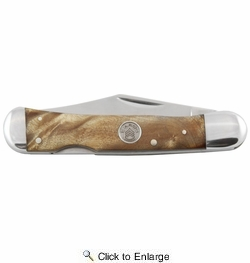 Sarge Knives SK-209MB  Maple Burl Lock Back Gentleman's Pocket Knife