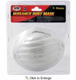 SAS Safety 2986  Nuisance Dust Mask - 5 per Package