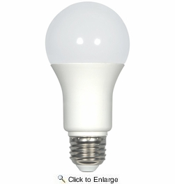 Satco S8770  11 Watt Non-Dimmable Frosted 5000K Natural Light LED A19 Light Bulb - Medium Base (75w Equivalent) - 4 Bulbs per Pack
