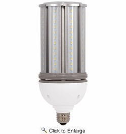 Satco S9392  36 Watt Non-Dimmable HID Replacement 5000K Natural Light LED Light Bulb - Medium Base (200w Equivalent)