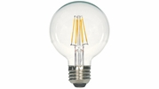 Satco S9563  4.5 Watt Dimmable Clear 2700K Warm White LED G25 Globe Light Bulb - Medium Base (40w Equivalent)