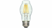 Satco S9575  4.5 Watt Dimmable Clear 2700K Warm White LED BT15 Light Bulb - Medium Base (40w Equivalent)