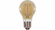 Satco S9583  4.5 Watt Dimmable 2200K Amber LED A19 Light Bulb - Medium Base (40w Equivalent)