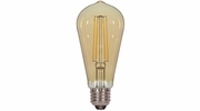Satco S9585  4.5 Watt Dimmable 2200K Amber LED ST19 Light Bulb - Medium Base (40w Equivalent)