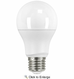 Satco S9593  9.5 Watt Non-Dimmable Frosted 2700K Warm White LED A19 Light Bulb - Medium Base (60w Equivalent)