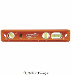 """Savage TLL049M 9"""" Magnetic Torpedo Level With Lighted Visibility"""