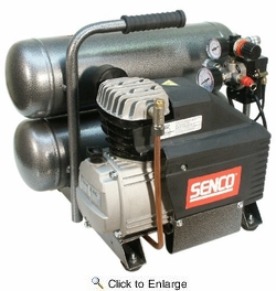 Senco PC1131  2-1/2 HP 4.3 Gallon Twin Tank Electric Air Compressor