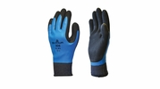 Showa 306  Breathable and Water Repellant Fully Coated Dual Latex Grip Gloves  - Medium