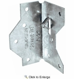 "Simpson Strong Tie A34Z  2-1/2"" Framing Angle Anchor Z-Max Finish"