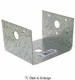 Simpson Strong Tie BC40Z 4x4 Post Half Base Z-Max Finish