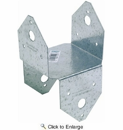Simpson Strong Tie BC4Z 4x4 Post Cap/Base Z-Max Finish