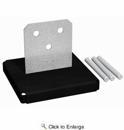 Simpson Strong Tie CPT88Z  8x8 Concealed Post Base with Pins & Washers