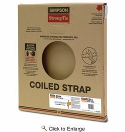 """Simpson Strong Tie CS14  14-gauge Coiled Strap 1-1/4"""" x 100'"""
