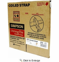 """Simpson Strong Tie CS16  16-gauge Coiled Strap 1-1/4"""" x 150'"""