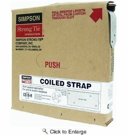"""Simpson Strong Tie CS16-R  16-gauge Coiled Strap 1-1/4"""" x 25'"""