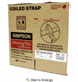 """Simpson Strong Tie CS20  20-gauge Coiled Strap 1-1/4"""" x 250'"""
