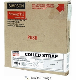 """Simpson Strong Tie CS22-R  22-gauge Coiled Strap 1-1/4"""" x 25'"""