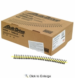"Simpson Strong Tie DWC158PS  #6 x 1-5/8"" Drywall to Wood Quik Drive Collated Screws - 2500 per Package"