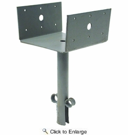 """Simpson Strong Tie EPB66  6x6 Post Elevated Post Base with 8"""" Pipe"""