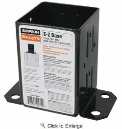 Simpson Strong Tie FPBB44  E-Z Base 4x4 Post Base with Black Finish