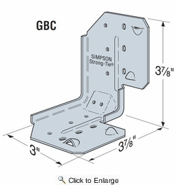 Simpson Strong Tie GBC Gable Brace Connector