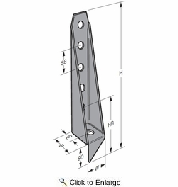"""Simpson Strong Tie HD12  3-1/2"""" x 20-5/16"""" Bolted Holdown 3-Gauge"""