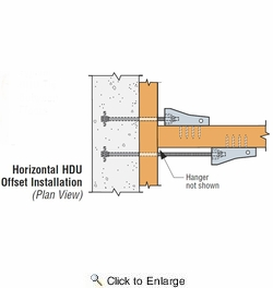 """Simpson Strong Tie HDU11-SDS2.5  22-1/4"""" Predeflected Hold Down w/SDS Screws"""