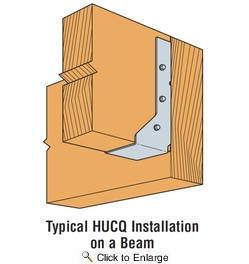 Simpson Strong Tie HUCQ612-SDS  6x12 Heavy Duty Joist Hanger Concealed/Reverse Flange w/SDS Screws
