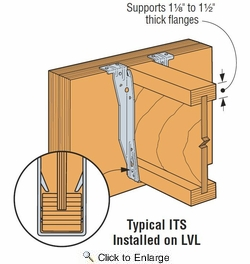 """Simpson Strong Tie ITS3.56/9.5  3-1/2"""" x 9-1/2"""" I-Joist Top Flange Hanger w/Strong-Grip Seat"""