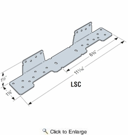 Simpson Strong Tie LSCZ  Adjustable Stair-Stringer Connector Z-Max Finish