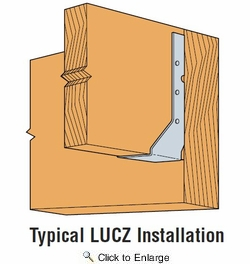 Simpson Strong Tie LUC210Z  2 x 10 Economy Standard Joist Hanger Concealed / Reversed Flange Z-Max Finish