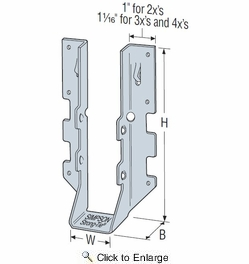 Simpson Strong Tie LUS210SS  2x10 Light Double Shear Joist Hanger Stainless Steel