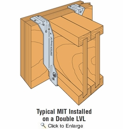 """Simpson Strong Tie MIT416  3-9/16"""" x 16"""" I-Joist Top Flange Hanger w/Positive Angle Nailing (PAN)"""