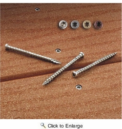 "Simpson Strong Tie S10250XBG  Dexxter #10 x 2-1/2"" Painted Gray Composite-Decking Screws - 1750 per Package"