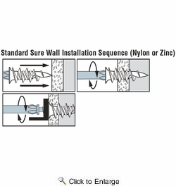 Simpson Strong Tie SWZ06S-R100  #6 Sure Wall Zinc Drywall Anchors with Screws - 100 per Package