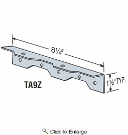 Simpson Strong Tie Ta9z 8 1 4 Quot Staircase Angle Z Max Finish