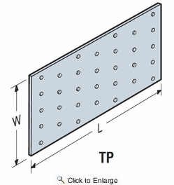 "Simpson Strong Tie TP39  3-1/8"" x 9"" Tie Plate"