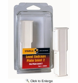 Stabila 20065  Replacement End Caps for Type 106T Level- 2 Per Package