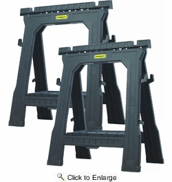 Stanley 060864R  Twin Pack Folding Sawhorses