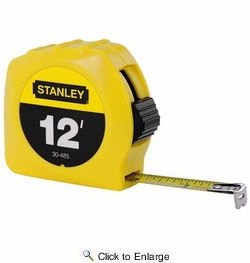 """Stanley 30-485  12' x 1/2"""" High-Visibility Tape Measure - Yellow"""