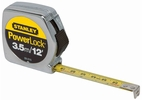 "Stanley 33-215  3.5m/12' x 1/2"" PowerLock Tape Measure - Metric / Standard Graduations"
