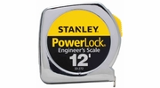 "Stanley 33-272  12' x 1/2"" Heavy-Duty PowerLock Tape Measure - Decimal Scale"